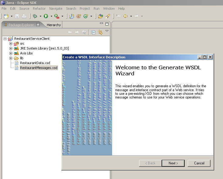 jWSCF: Web Services Interface Design for Java and the Eclipse IDE