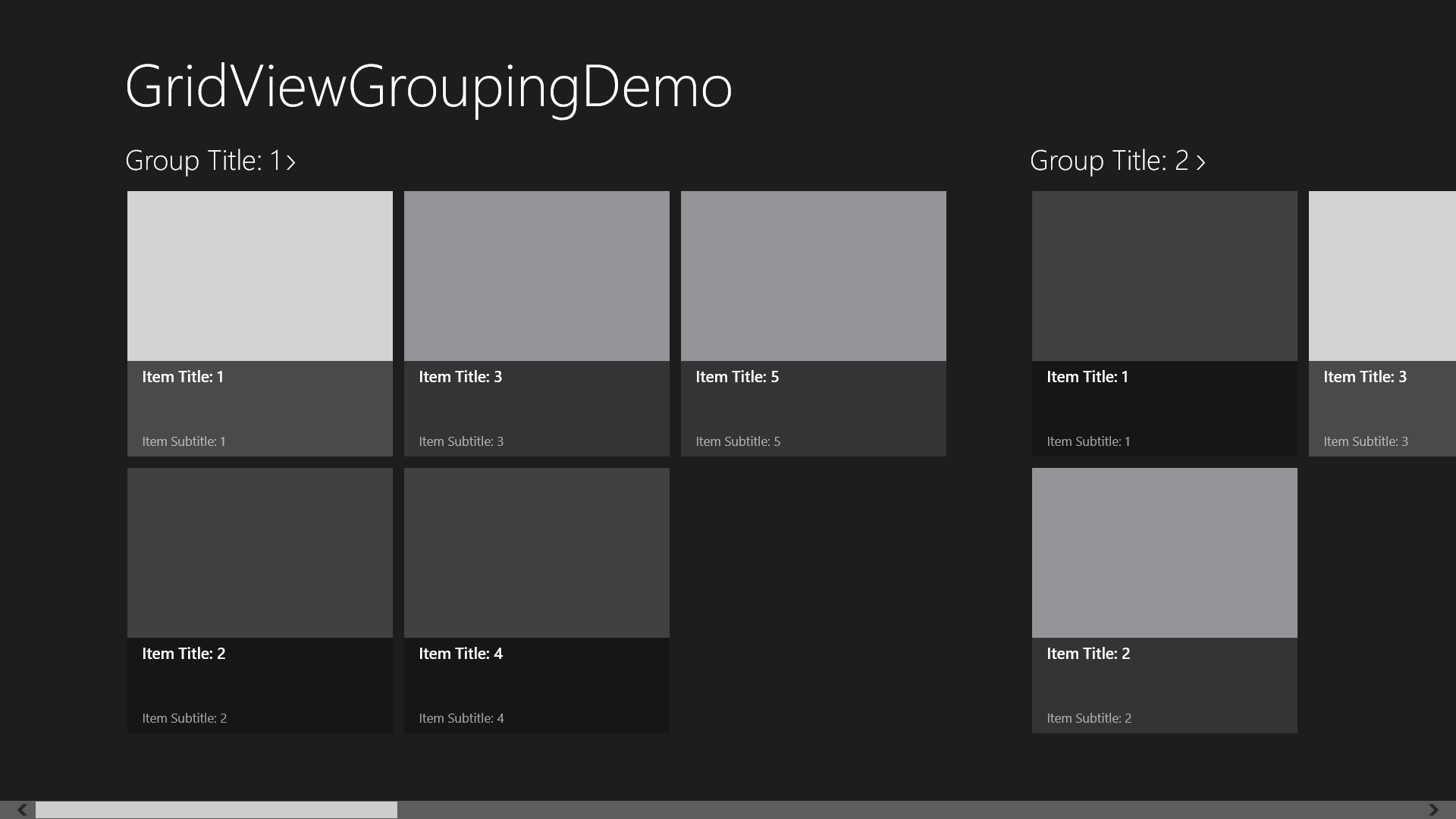 Grouping with the GridView Control - Windows Store Apps (XAML ...